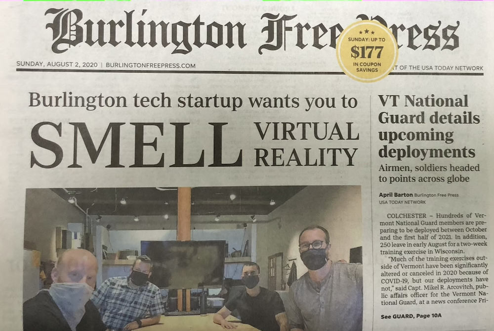 Burlington Free Press Cover 080220